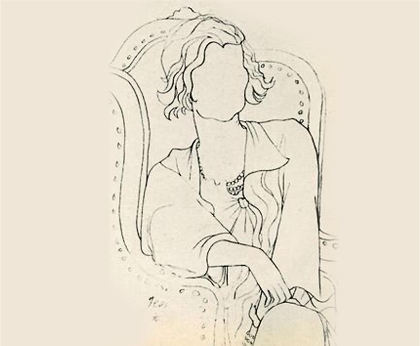 Jean Cocteau's 1933 faceless portrait of Chanel